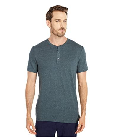 Threads 4 Thought Baseline Short Sleeve Tri-Blend Henley (Gunmetal) Men