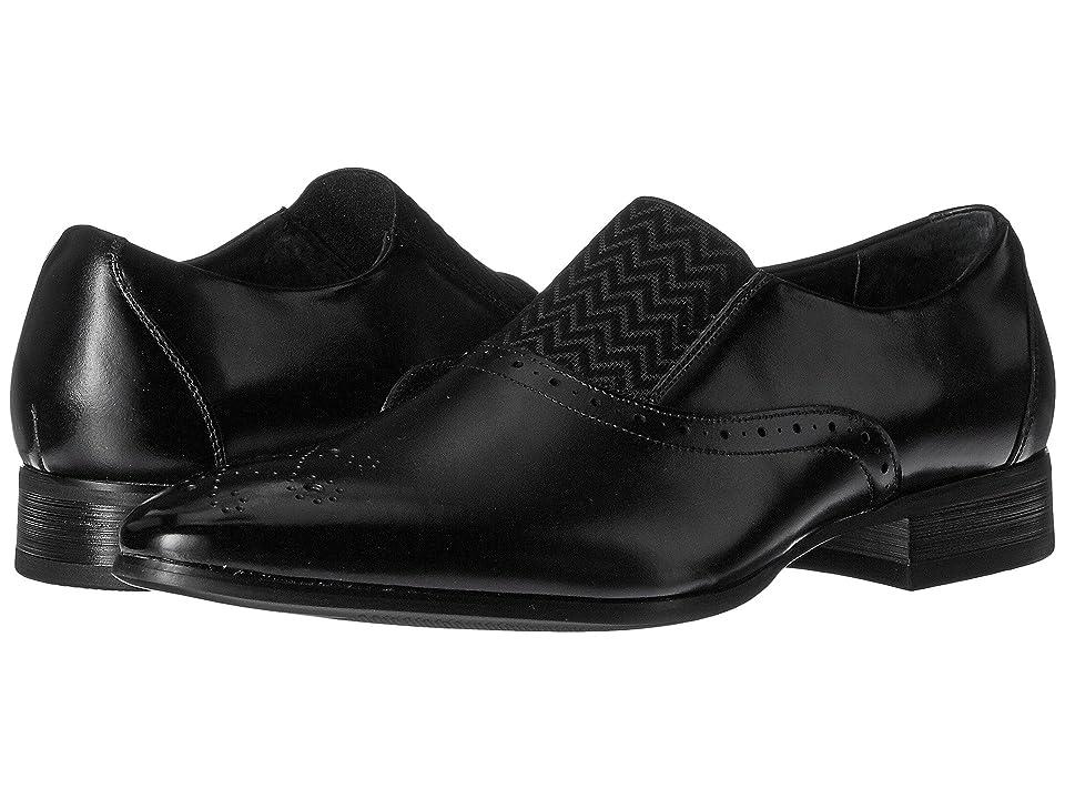 Stacy Adams Valerian Medallion Toe Slip-On Loafer (Black) Men