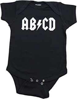 Ann Arbor T-shirt Co. Baby Boys' Baby Ab/Cd Funny Infant Rock and Roll One Piece-Newborn