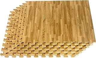 We Sell Mats Printed Wood Grain 2' x 2' x 3/8
