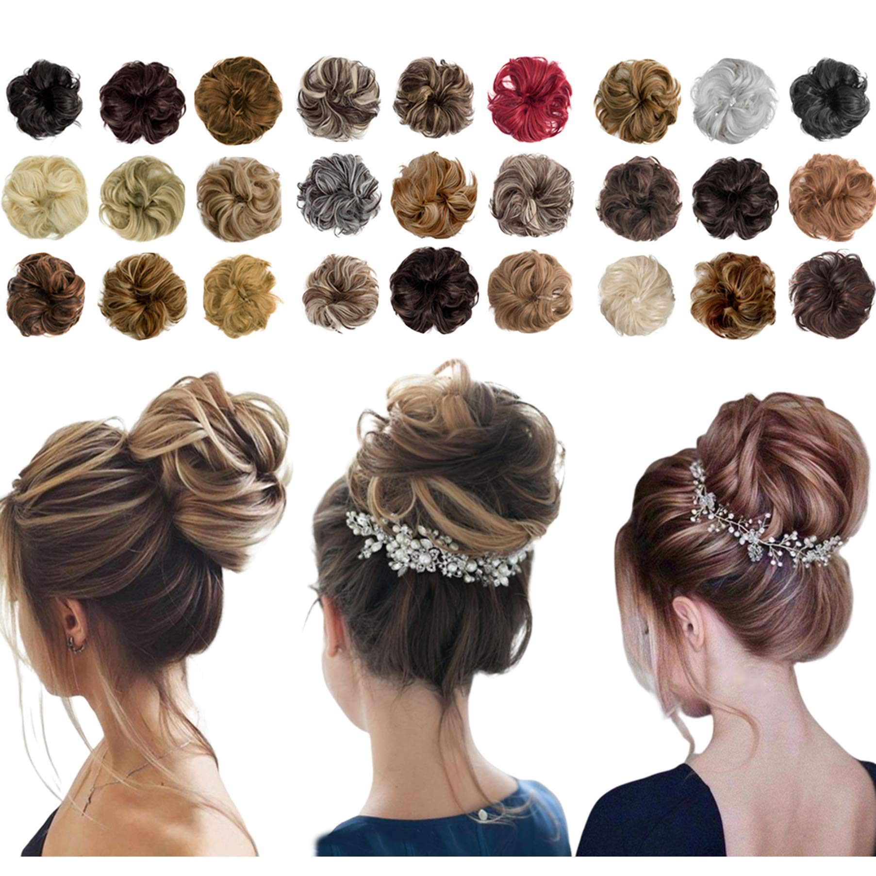 Scrunchies Extensions Ponytail Accessories Bleach