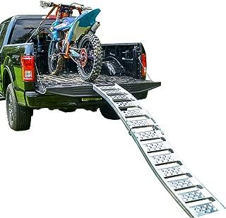 "EmpireCovers ""Tru-Grip"" Dual Curved Aluminum Folding Motorcycle Ramp (750 lb)"