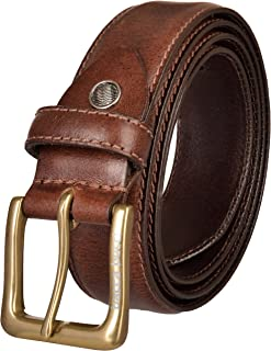 Bacca Bucci Men's Full grain genuine leather double stich classic design 35 mm all sizes Regular men belt for work,business,casual