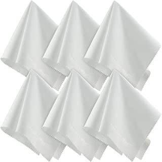 SecurOMax White Microfiber Cleaning Cloth 12x12 Inch, 6 Pack
