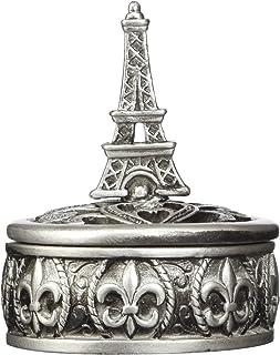 FASHIONCRAFT 8654 Eiffel Tower Design Curio Box Favors, Grey, Eiffel Trinket Box – Eiffel Themed Jewelry Box