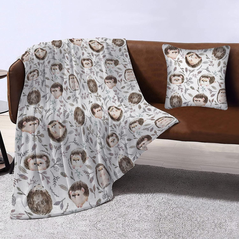 Cute Baby Hedgehog Animal safety Throw Blanket Popular standard Bed Fl Warm Soft