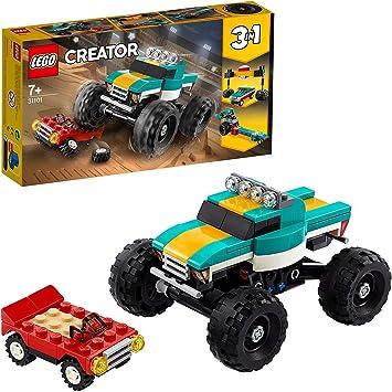 LEGO31101Creator3en1MonsterTruckCochedeGranPotenciaoDrágsterSupervelozJuguetedeConstrucciónparaNiños+7a&ntil
