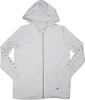 Ideology Lace-Up Sleeves Drawstring Hoodie Full Zip Jacket