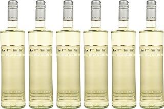 Bree Riesling Qualitätswein Weißwein feinherb - Besonderes Flaschendesign, Aromen von Pfirsich und Quitte, feiner Mineralik, aus Deutschland, 6 x 0.75 L