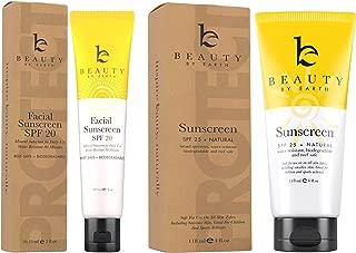 Mineral Sunscreen Set - Face Sunscreen SPF 20 & Body Sunscreen Lotion SPF 25, Zinc Oxide Sunscreen, Reef Safe Sunscreen, Travel Sunscreen & Facial Sunscreen, Great Baby Sunscreen & Kids Sunscreen