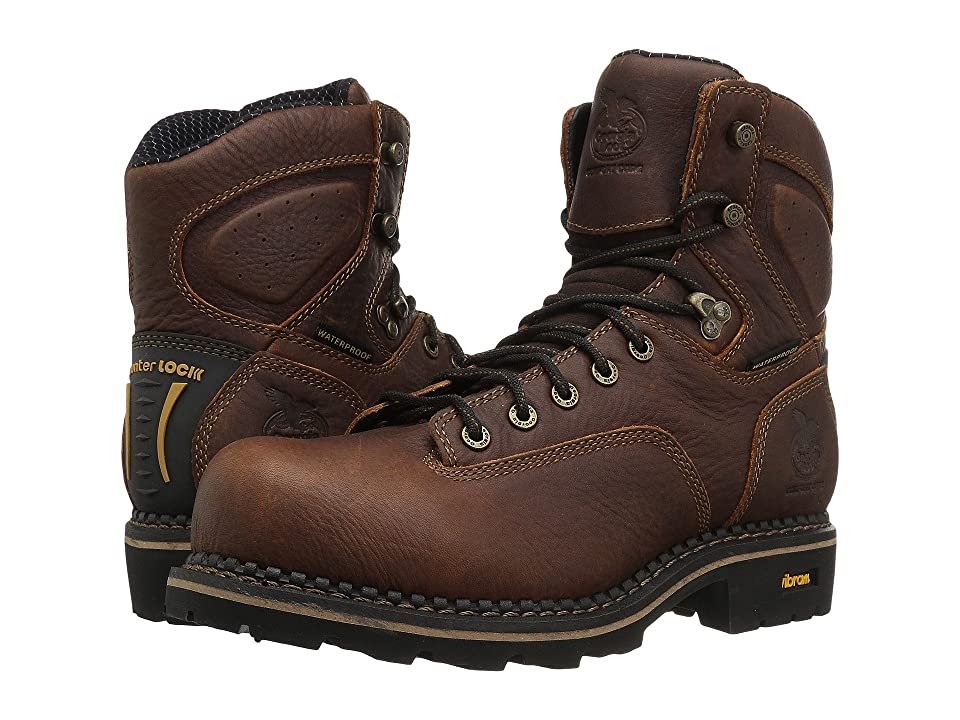 Georgia Boot Logger 6 Low Heel Comp Toe Waterproof (Brown) Men