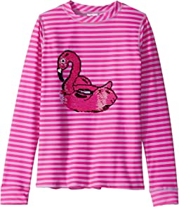Magic Two-Way Sequin Swan Float Rashguard (Little Kids/Big Kids)