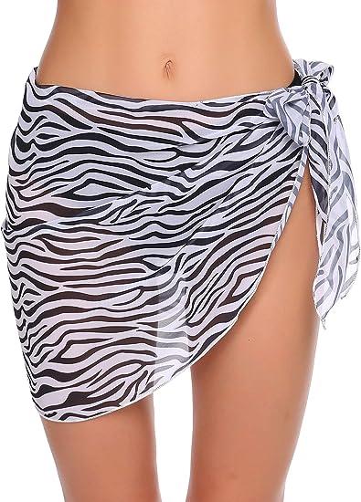 beachwear cover up zebra
