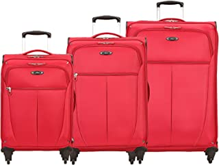 Luggage Mirage Superlight 3-Piece Spinner Set | 20, 24, 28 (Fomula 1 Red - 3pc Set)