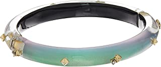 Alexis Bittar Women's Gold Studded Hinge Bracelet Clear Green Opalescent One Size