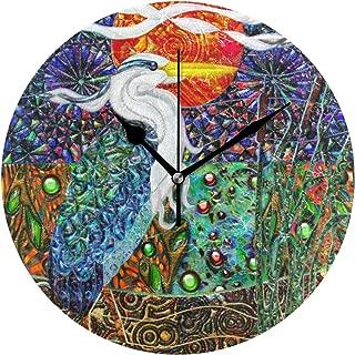 MIKA時計 壁掛け 壁掛け時計 掛け時計 モダン 壁時計 掛時計 デザイン時計 無音時計 連続秒針 静音 オシャレ 鷲 熱帯幾何学的 金属コラージュII