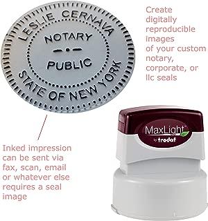 Maxlight Seal Impression Inker 2-inch Diameter Burgundy