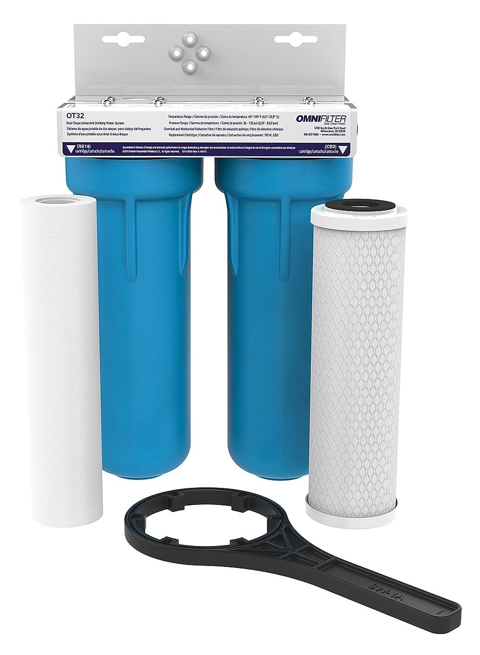 OMNI/Pentair OT32-S-05 OMNIFilter Drop-in Undersink Filter OT32, White/Blue - OT32-S-S06 tufdfohvfmokz88