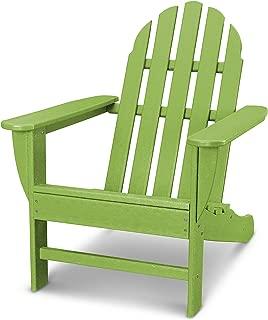 POLYWOOD AD4030LI Classic Outdoor Adirondack Chair, Lime