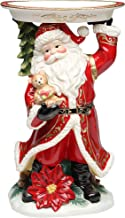 Cosmos Gifts 56347 Santa Figurine Holding Plate, 15-Inch