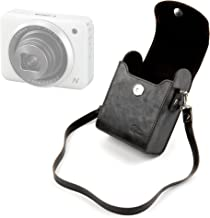 DURAGADGET Compact Camera Case in Black - Limited Edition Retro Box-Style Case in Black Faux Leather - Suitable for The Canon PowerShot N2, PowerShot N, PowerShot G7X & The PowerShot N100