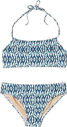 Tropical Blue Bandeau Halter Bikini (Infant/Toddler/Little Kids/Big Kids)