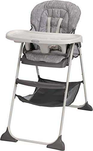 Graco Slim Snacker High Chair | Ultra Compact High Chair, Whisk