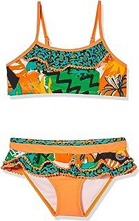 Bikini Volantes NIÑA Naranja Party Animal