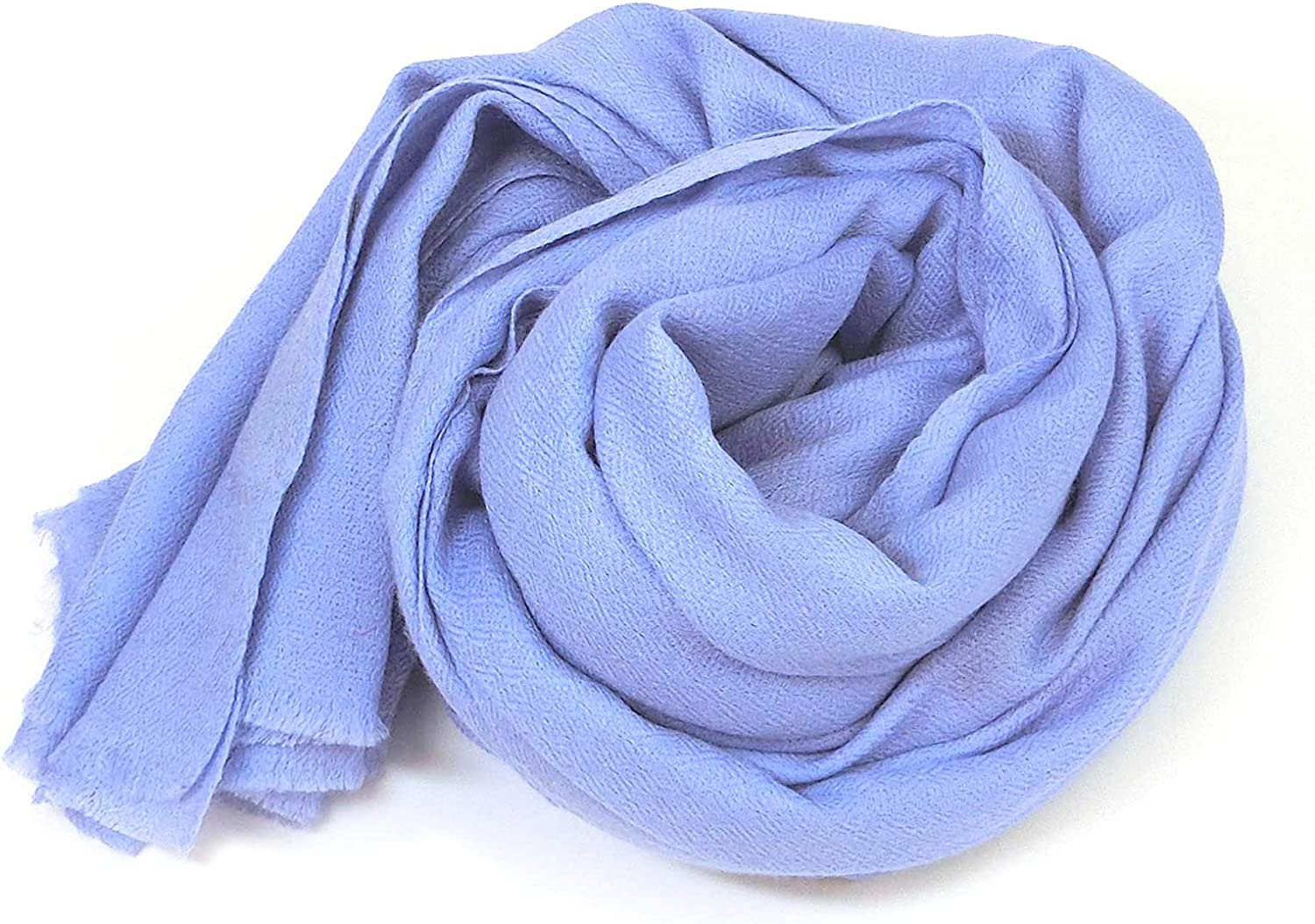 Women's Soft Wrap Scarves Silk Wool Lightweight Danish Solid Colors Made in India