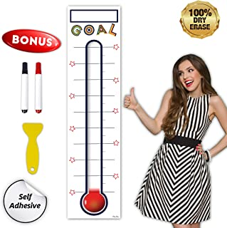 Goal Thermometer Chart Goal Tracker - 48