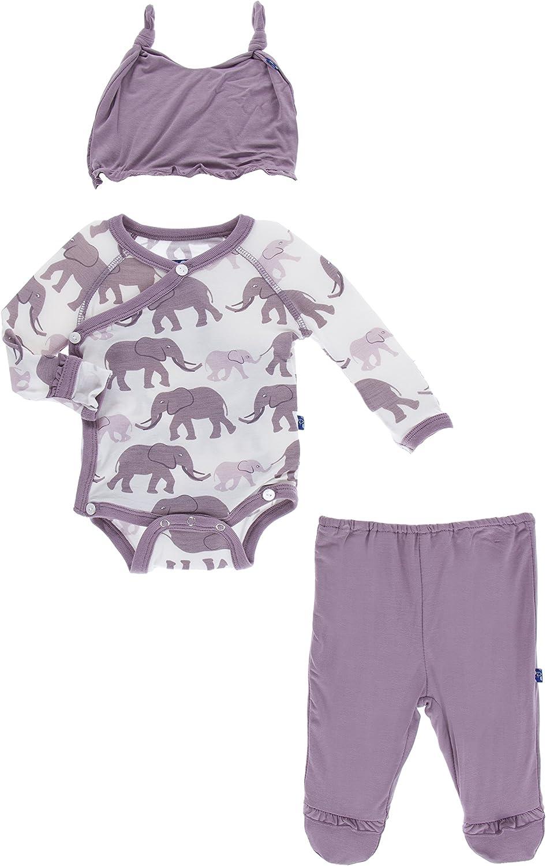 KicKee Pants Little Girls Ruffle Kimono El Max 45% OFF with Selling rankings Newborn Set Gift
