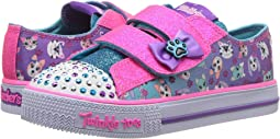 SKECHERS KIDS Twinkle Toes: Shuffles - Princess Paw 10918N Lights (Toddler/Little Kid)