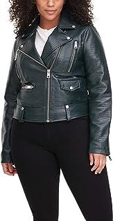 Women's Sophia Faux Leather Moto Jacket (Standard & Plus...