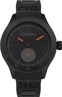 Men's Scuba Quartz Watch with Silicone Strap, Black, 20 (Model: SYG212BB)