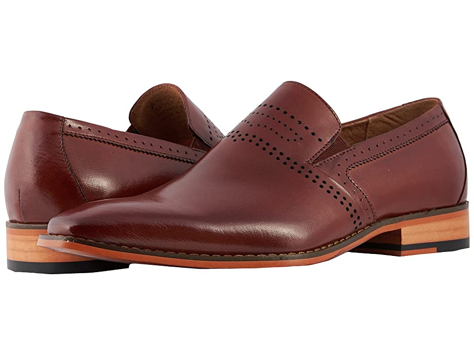 Stacy Adams Saunders Plain Toe Loafer (Cognac) Men
