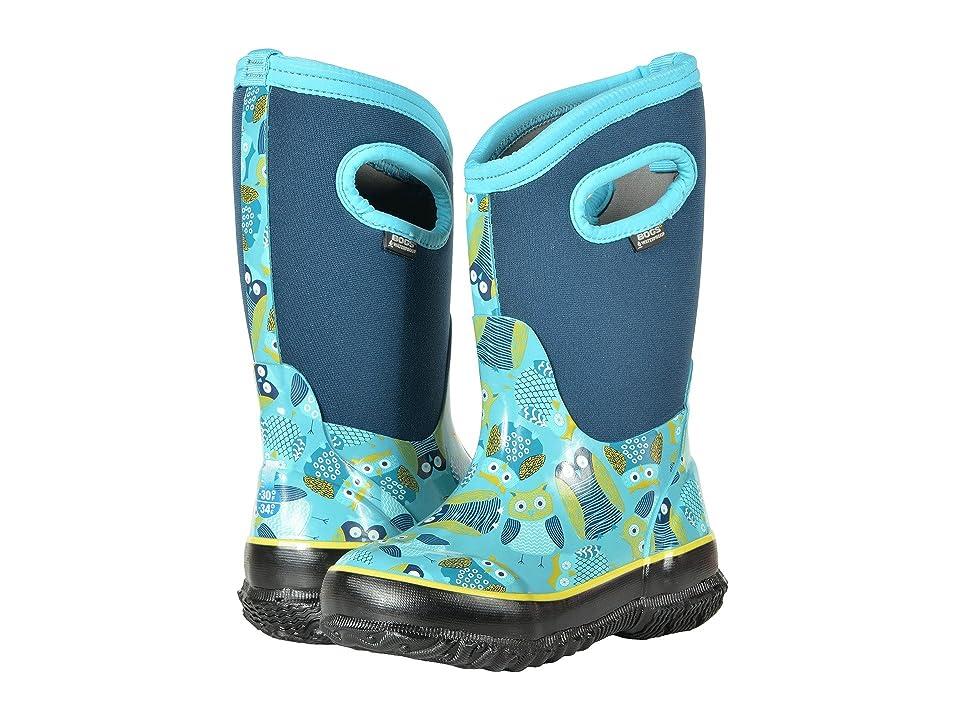 Bogs Kids Classic Owl (Toddler/Little Kid/Big Kid) (Blue Multi) Girls Shoes