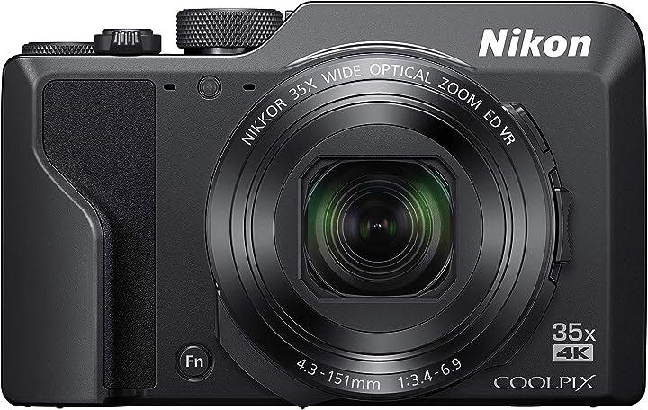 Fotocamera digitale compatta, 16 megapixel, zoom 35x 4k smirino elettronico nikon coolpix a1000 VQA080EA