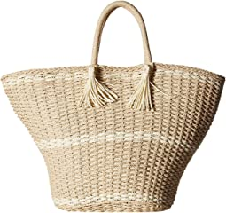 Large Soft Wicker Weave Tote