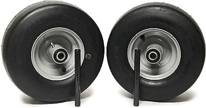 MowerPartsGroup (2) Ferris Pneumatic Wheel Assemblies 13x6.50-6 Silver Replaces 5023279