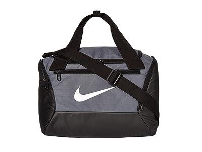 Nike Brasilia Extra Small Duffel 9.0 (Flint Grey/Black/White) Bags