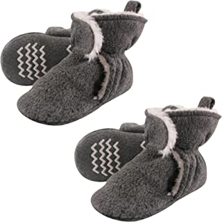 Cozy Warm Toddler Slipper Booties with Non Skid Bottom