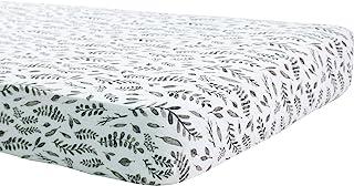 Bebe au Lait Classic Muslin Crib Sheet, 100% Cotton Muslin, Fits Standard Crib Mattress - Leaves
