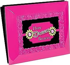 Hope Dream Believe Inspirational 5X7 Glossy Hot Pink Keepsake Photo Picture Album