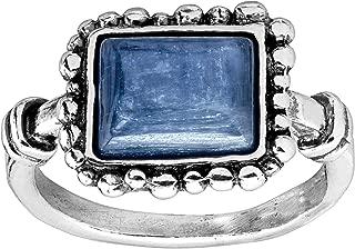 Gentiana' Natural Kyanite Ring in Sterling Silver