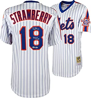 fd73badb1 Darryl Strawberry New York Mets Autographed Mitchell and Ness 1986 White  Authentic Jersey with