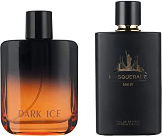 Perfume&Beauty 2 PCS Perfume Eau de Parfume for Men, 3.4 oz Spray Parfume for Men 100 ML-DARK ICE+Masquerade