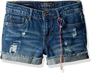 Girls' 5-Pocket Cuffed Stretch Denim Short