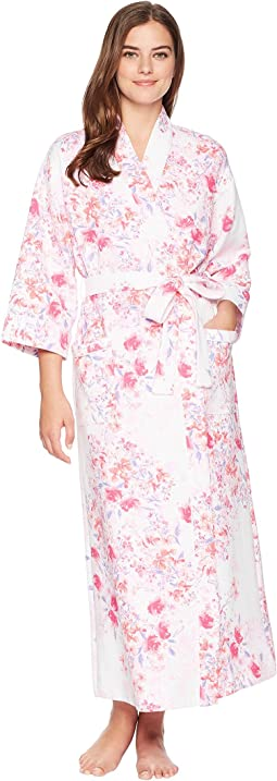 Carole Hochman Diamond Quilt Elbow Sleeve Robe