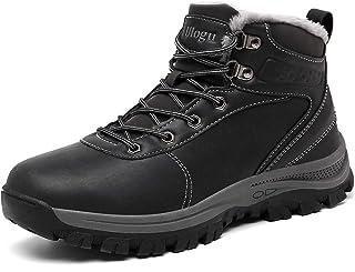 Ulogu Chaussures d'hiver Hommes Étanche Bottes de Neige Bottes d'hiver Fourrure Doublé Chaud Antidérapantes Outdoor Bottes...
