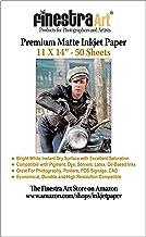 "11"" X 14"" Premium Arctic Matte Inkjet Photo Paper – 50 Sheets"